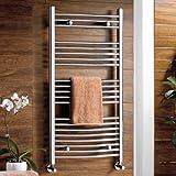 iBathUK Sèche-serviettes incurvé pour salle de bain...