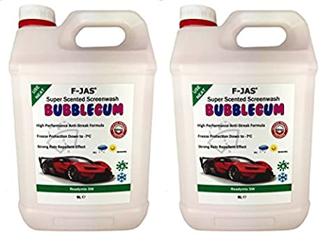 F-JAS Super Scented Screenwash (2x 5L Readymix Double Pack, Cherry