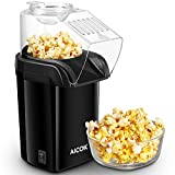 Popcornmaschine, Aicok Popcorn Maker, Heissluft Ohne Fett Fettfrei Ölfrei, Messlöffel, 1200W,...
