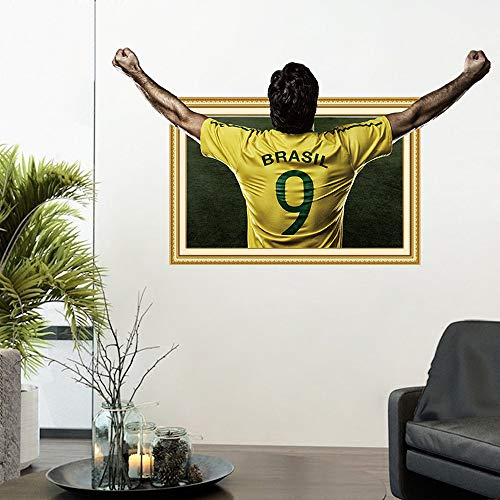 Wall Stickers 3D Stereo Football Player Paper Poster College Dormitory Bedroom Decoration Painting