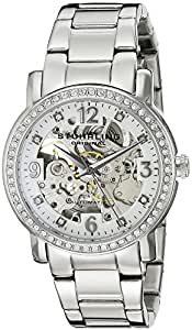 Stuhrling Original Delphi Canterbury Automatic Skeleton Swarovski Crystal Women's Automatic Watch with Silver Dial Analogue Display and Silver Stainless Steel Bracelet 531L.11112