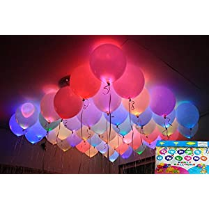 Jiada LED Balloons for Party Festival Celebrations (Set of 25)…
