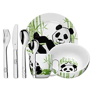 wmf set de vaisselle pour enfant motif panda enfant mit gravur auf r ckseite acier inoxydable. Black Bedroom Furniture Sets. Home Design Ideas