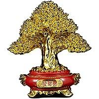 Crafts Pachira Camera Decorazioni Ornamenti Mucca Da Mungere Galvanica Resina Albero Fortunato Che Vivono Negozio Affari Regalo Gold