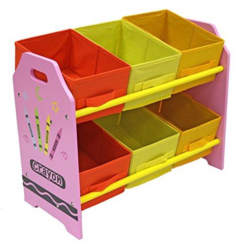 Bebe Style PCR6BR Spielzeug-Kommode in Kindergröße, mit 6 Aufbewahrungsboxen, rosa