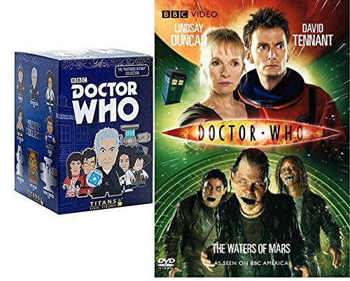 Titan Who Combo Pack Doctor Who Confidential behind the scenes DVD: The Waters of Mars + Blind Box Vinyl Titans Mini Figure