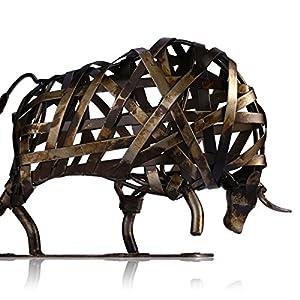 Tooarts Skulptur / Figur / Statue, aus Metall, Kunstwerk, Dekoration für Zuhause, Wohnzimmer, Büro Kuh