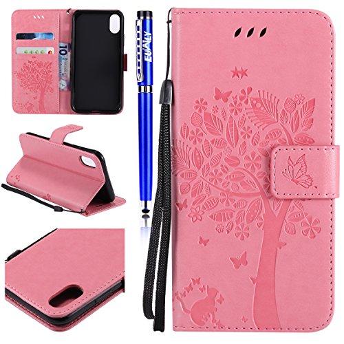Portafoglio Pelle X Iphone Cover Pu Custodia Case Per Euwly xqw4g8Yx