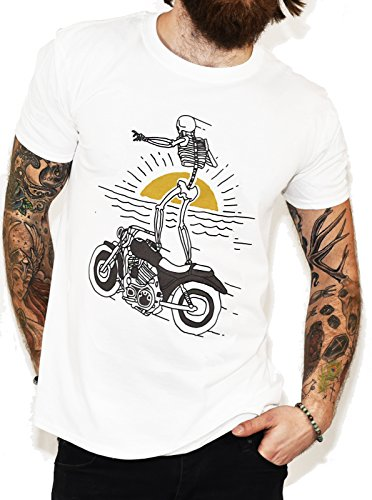 hirt weiß weiß One size Gr. Small, weiß (Jack Skeleton T-shirt)