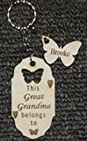 PERSONALISED MUMMY/NANNY. GRANDMA BUTTERFLY KEEPSAKE KEYRING WITH SINGLE BUTTERFLY (ADDITIONAL BUTTERFLIES CAN BE ADDED AS REQUIRED) (Butterfly key chain with 1 charm)