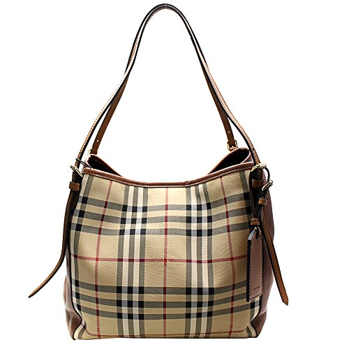 BURBERRY Handtasche Damen Tasche Damenhandtasche Tote Bag horseferry check Braun