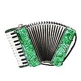 ammoon 22-Touches 8 Bass Piano Accordéon avec Sangles Gants Chiffon de Nettoyage Instrument de Musique éducative pour les étudiants Débutants Enfant