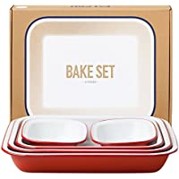 Genuine Falcon Enamelware Bake Set (Pillarbox Red)