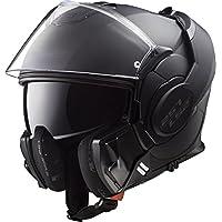LS2 FF399 Cascos modulares de Moto Motocicleta Bicicleta Valiente Convertir Noir Negro Mate 3XL(65