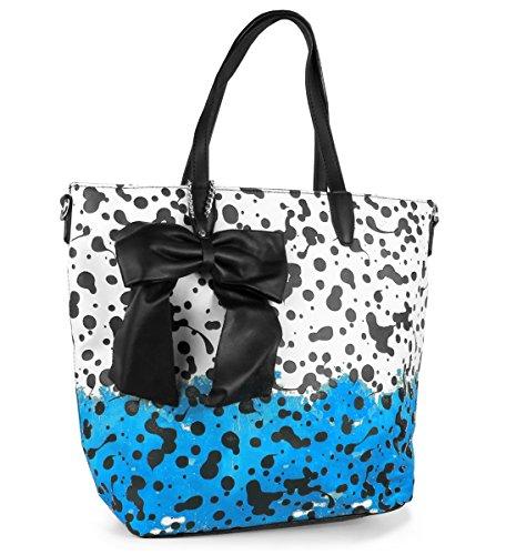 Schleife Lauri Lovely Vintage Blau Beuteltasche Henkeltasche Handtasche Rockabilly Farbklekse rwrdI1q