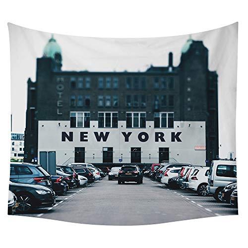 Junzygh arazzi a parete con arazzi,moderna città di new york,appendi biancheria da parete decorativa,telo mare,tappetino da picnic,adatto per la cucina del soggiorno camera da letto,150x130cm