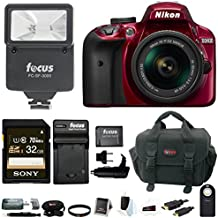 Nikon D3400 DSLR Camera With 18-55mm VR Lens, Flash And 32GB Bundle