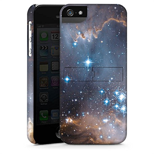 Apple iPhone 5s Housse Étui Protection Coque Étoiles Galaxie Galaxie CasStandup blanc