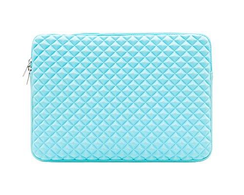 Diamant-Muster wasserresistente and stoßfest Laptop-Tasche MacBook Tasche Computer-Tasche Netbook Tasche Aktentasche Ultrabook Tasche Blau 15.6Inch
