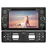 YINUO 7 pouces 2 din écran tactile capacitif Véhicule autoradio Lecteur DVD Sat Nav In Dash GPS Navigation Noir Bluetooth Autoradio pour Ford C-Max / Connect / Fiesta / Focus, Caméra arrière