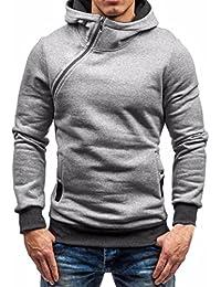 Felpa uomo, Reasoncool Pullover casuale maglione con cappuccio zip uomini di