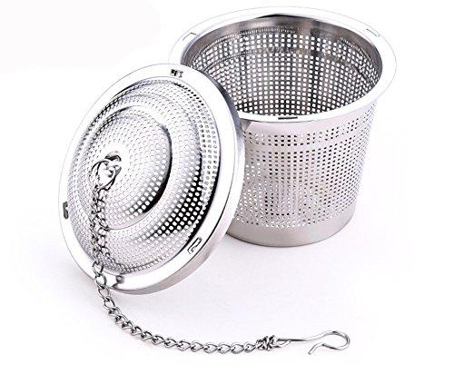 Sotoboo Filtre en acier inoxydable à mailles ultra fines pour feuilles de thé Qualité alimentaire Passoire à thé Filtre à thé