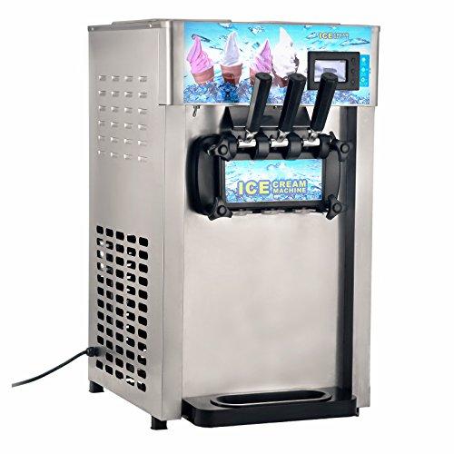 Oldfe 18l/h macchina gelato soft professionale 1400w soft gelatiera con compressore di frozen yogurt di latte 3 gusti gelatiera soft commerciale in acciaio inox