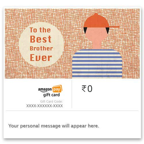 Happy Rakhi (Best brother) - E-mail Amazon Pay Gift Card