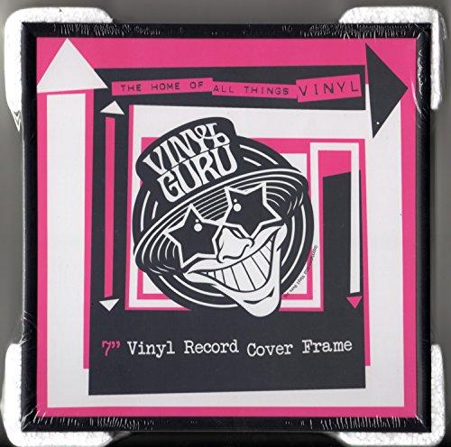 Vinyl Guru - Cornice per dischi in vinile da 45 giri, 17,8 cm, in alluminio, 1 pezzo, colore: nero
