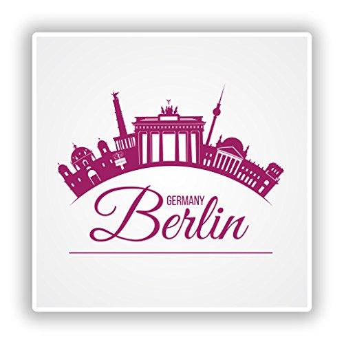 2x Berlin Germany Vinyl Aufkleber Reise Gepäck # 10178