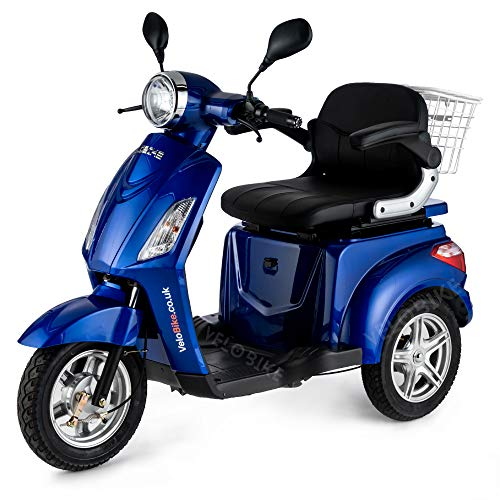 VELECO ZT15 Scooter Eléctrico de 3 Ruedas Mayores Minusvalido 900W Azul