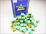 12 Pieces Green KING TRIANGLE Snooker & Pool Chalk - Worlds Most Popular Chalk! - Tweeten - amazon.co.uk