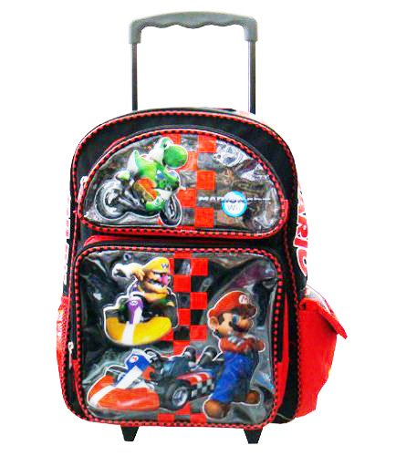 Mario Kart Large Roller Backpack - Full Size Nintendo Super Mario Rolling Backpack by Nintendo