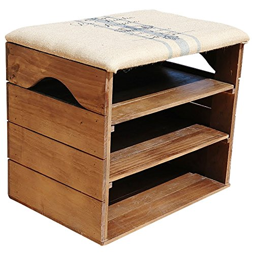 SHOE RACK – Premium Vintage Wooden Shoes Organiser, Storage ...