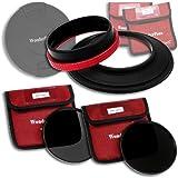 WonderPana 145 Kit ND - 145mm Porte-Filtre, Bouchon d'Objectif, et Filtres ND16 et ND32 pour l'objectif Tokina 16-28mm f/2.8