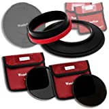 Fotodiox WonderPana - Kit fotografico a densità neutra, con portafiltro da 145 mm, copriobiettivo, filtri ND16 e ND32 per obiettivi Tokina da 16-28 mm f/2.8 AT-X Pro FX