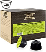 Note d'Espresso Black Tea, Lemon, Lime and Curcuma Capsules Exclusively Compatible with Nescafé* and Dolce Gusto* capsule ma
