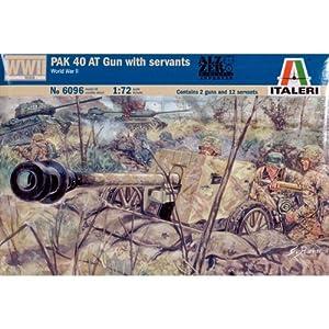 Italeri 6096S  - Segundo Deutsch Segunda Guerra Mundial, Soldados y Armas PaK40