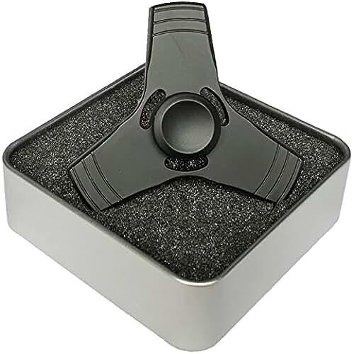 fidget spinner el nuevo juguete de moda Digitek Fidget Mano Spinner Tri Fidget Toy Aluminio Juguete Rodamientos de Alta Velocidad en Acero Inoxidable - Perfecto para EDC, ADD, ADHD, Autismo Para Adultos y Niños (Negro)