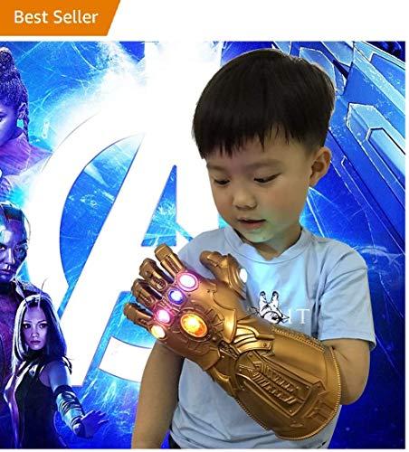 Cosplay Thanos Handschuhe , Kinder Led Thanos Gloves Infinity Gauntlet War Thanos Fists Avengerrs für Marvel Fans, 29cm