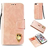 Iphone 7 Plus / 8 Plus Hülle,Alfort Iphone 7 Plus / 8 Plus Schutzhülle, Simulations Retro Ledertasche Lederhülle PU Leder Tasche Cover Wallet Case für Iphone 7 Plus / 8 Plus Smartphone (Rose Gold)