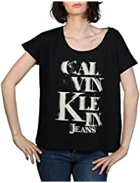Calvin Klein Women's Cotton T-Shirt (Black, Medium)