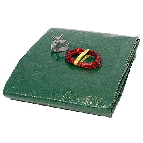 Pool Abdeckplane 180g/m² für 6,50 x 4,20 m Achtform- oder Ovalbecken | grün/schwarz | Exclusive Qualität von POOL Total -