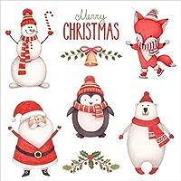 Susy Card 40003252 Weihnachts-Serviette, Tissue bedruckt, 3-lagig, 20er Packung, Motiv: Xmas Party, 33 x 33 cm