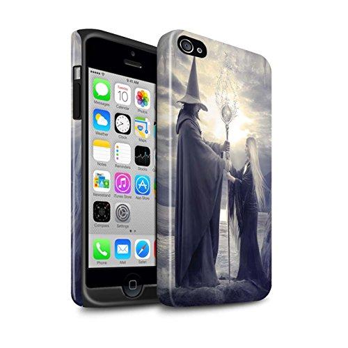Officiel Elena Dudina Coque / Brillant Robuste Antichoc Etui pour Apple iPhone 4/4S / Sorcière Chaudron Design / Magie Noire Collection Maestro/Sorcier