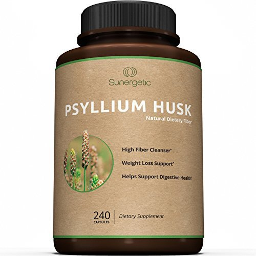 Best Psyllium Husk Capsules – 725mg Per Capsule -240 Capsules – Powerful Psyllium Husk Fiber Supplement Helps Support Digestion, Weight Loss and Constipation – Premium Natural High Fiber Cleanser