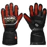 Beheizte Motorradhandschuhe,7.4V 2200MAH wiederaufladbarem Lithium-Ionen-Akku handschuhe,Skifahren Jagen Angeln Reiten Radfahren Camping Wandern Motorradfahren Handwärmer Arthritis (XL)