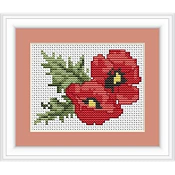 Caterpillar And Butterfly Cross Stitch Kit By Luca S Ideal Beginner 13cm x 9cm