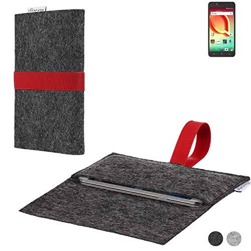 flat.design Handy Hülle Aveiro für Alcatel A50 passgenaue Filz Tasche Case Sleeve Made in Germany
