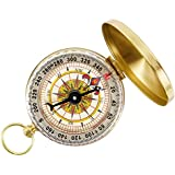 TONOR Camping Hiking Portable Pocket Watch Flip-Open Compass Outdoor Navigation Tools - Gold